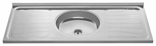 Single center no Holes bertolini sink