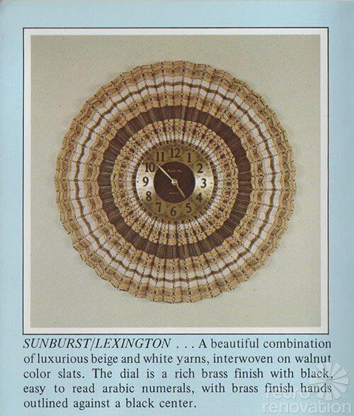 retro sunburst clock