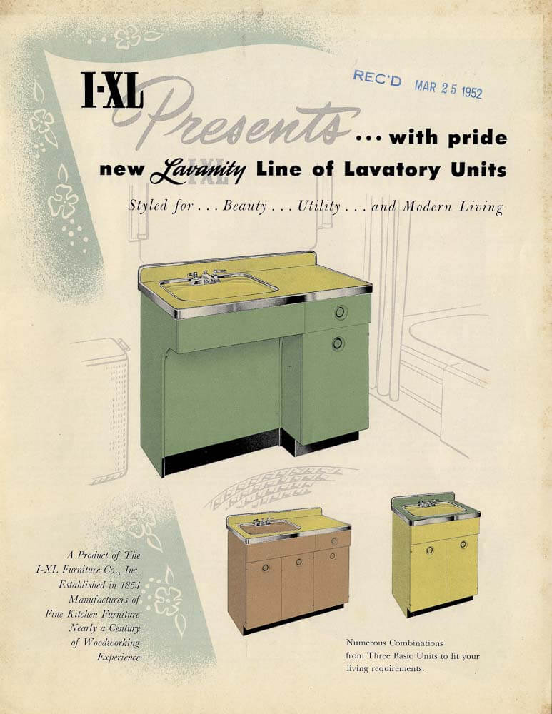 vanity? Look at these 5 authentic 1952 designs - Retro Renovation