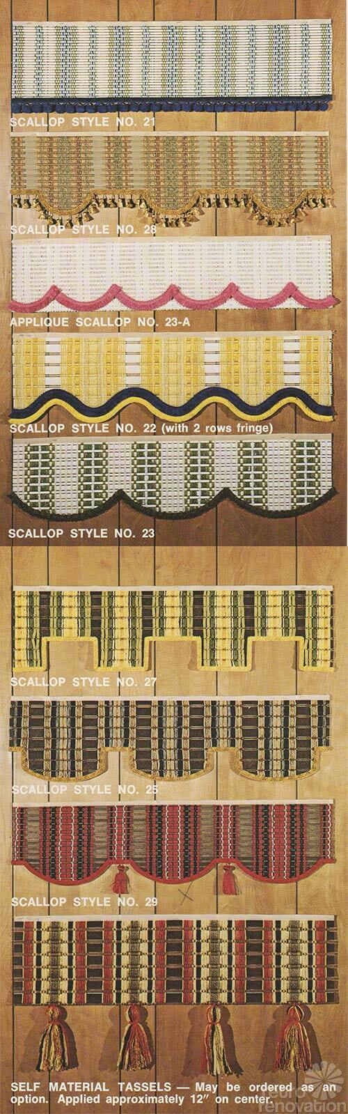 retro scalloped blinds