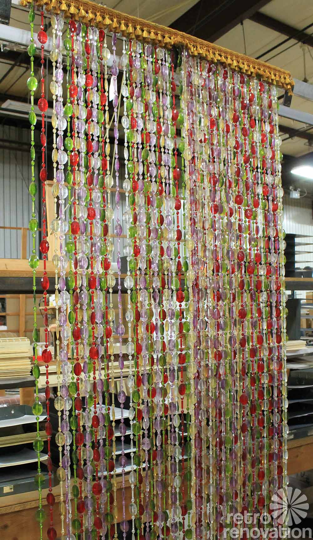 Bead curtain room divider - Retro Beaded Curtains 1970s