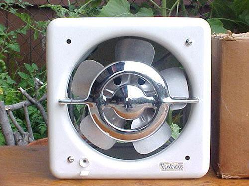 beautiful ventrola kitchen exhaust fan - nos woddity - retro