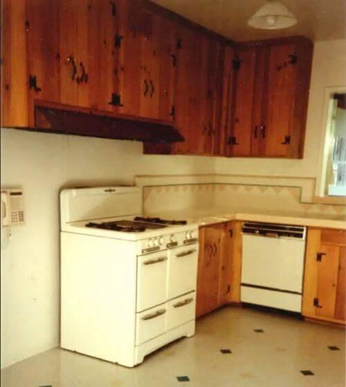 Vintage Knotty Pine Kitchen Cabinets: Margie Grace's Perfect Little 1940s-style Kitchen