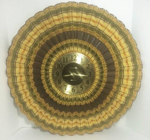 retro woven wood clock
