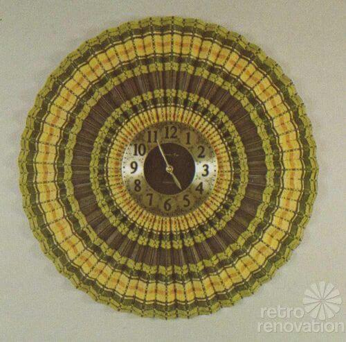 retro woven wood clock