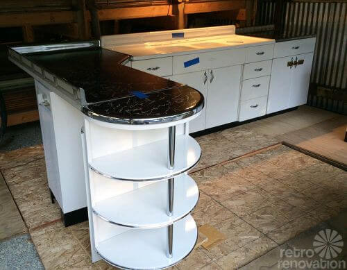 NOS Youngstown steel kitchen cabinets 1950s