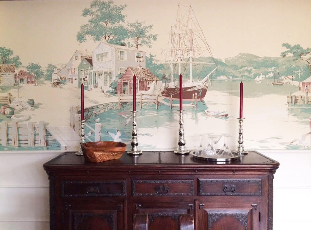 Thibaut nautical wallpaper mural a wonderful addition to for Dining room wall murals