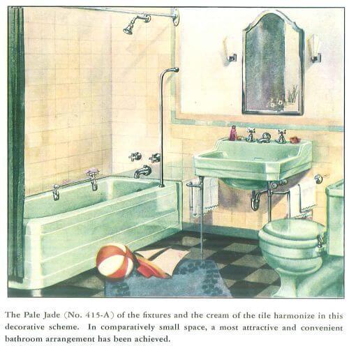 pale jade vintage bathroom