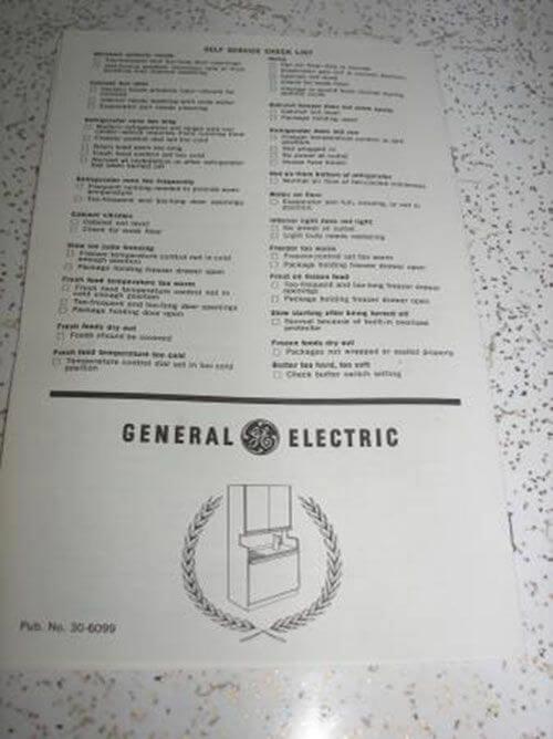 General Electric Americana refrigerator
