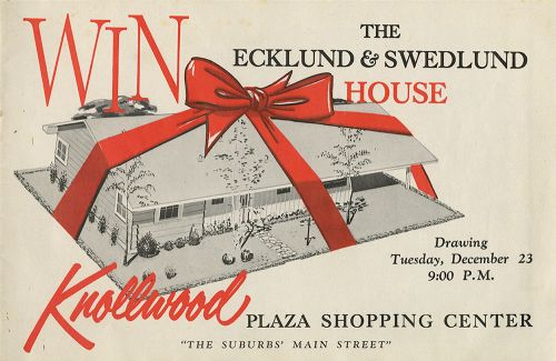 vintage win a house advertisement