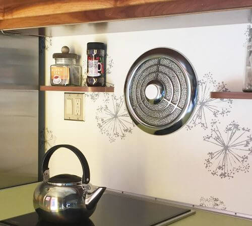 vintage chrome kitchen fan