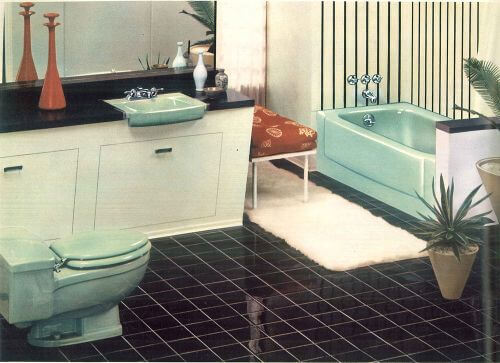 Sea Green vintage bathroom