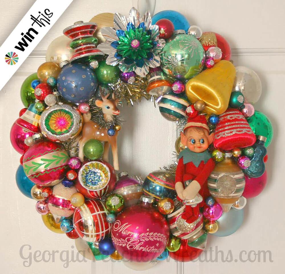 Vintage Ornament Wreath 37