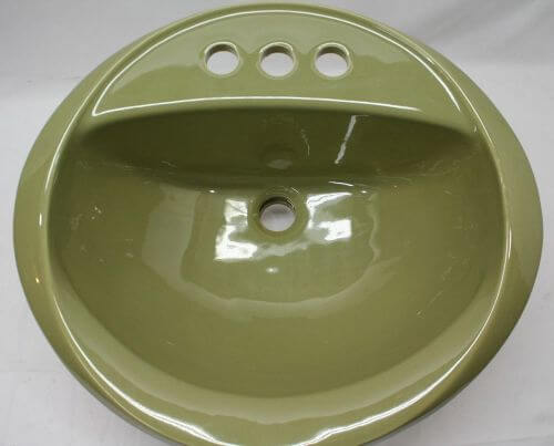 Avocado Green Bathroom Sink