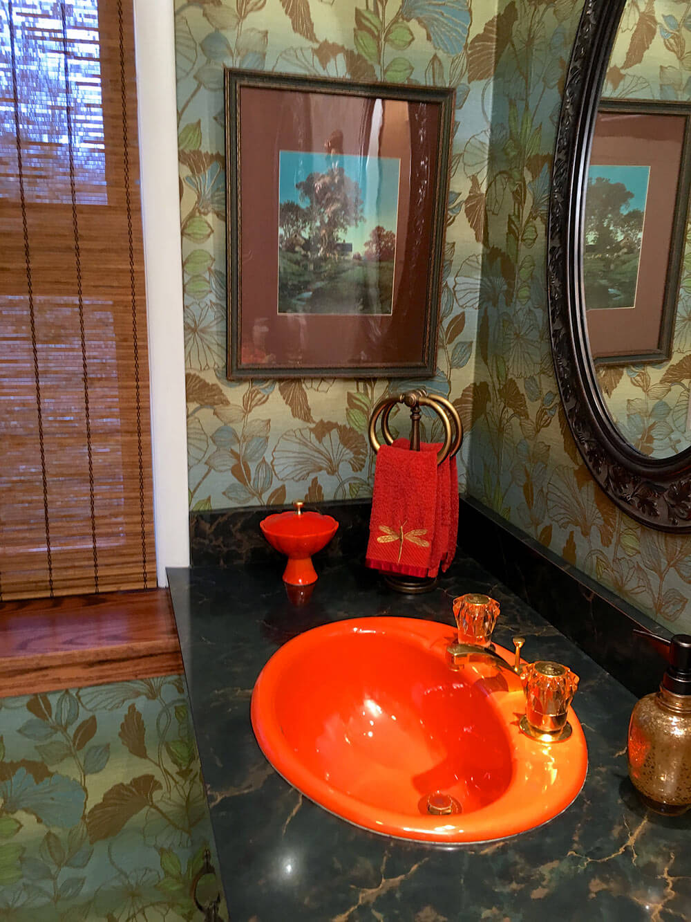 Kathy S New Old Glam Bathroom Revival Featuring An