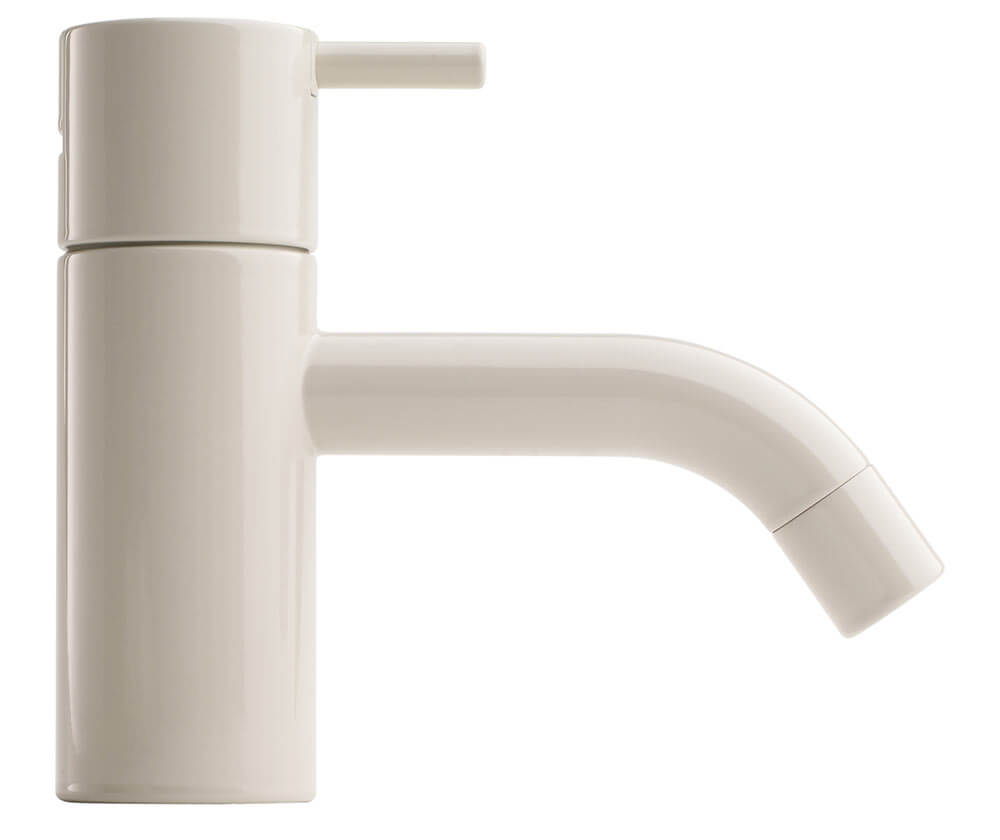 White bathroom faucet