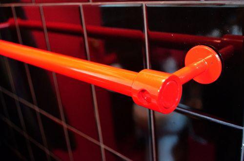 red towel bar