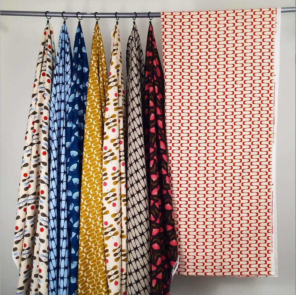 retro barkcloth patterns