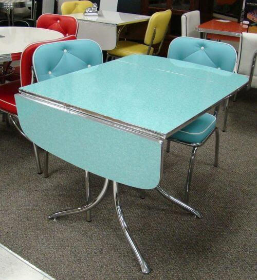 still in production after nearly 70 years acme chrome dinettes made from 1949 to 1959 retro. Black Bedroom Furniture Sets. Home Design Ideas