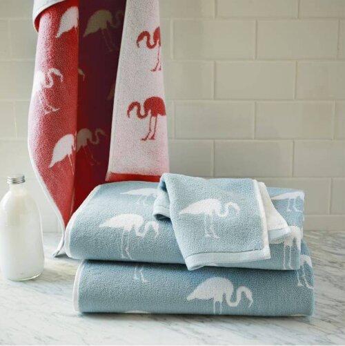 Flamingo Bathroom Towels At West Elm Retro Renovation
