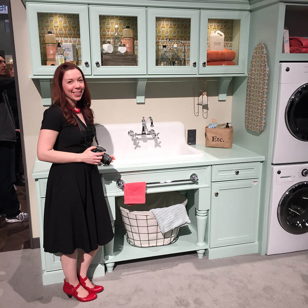 Checking out the Nelson's sink on display at KBIS