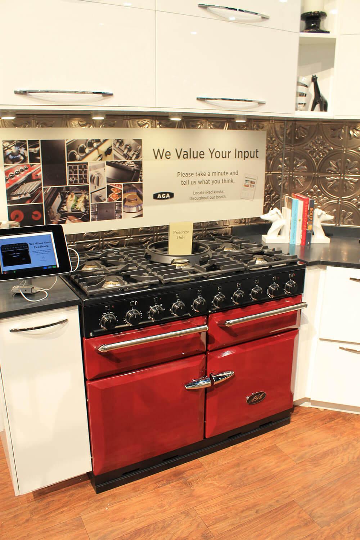 Uncategorized Aga Kitchen Appliances aga colorful ranges and a retro kitchen at kbis renovation appliances