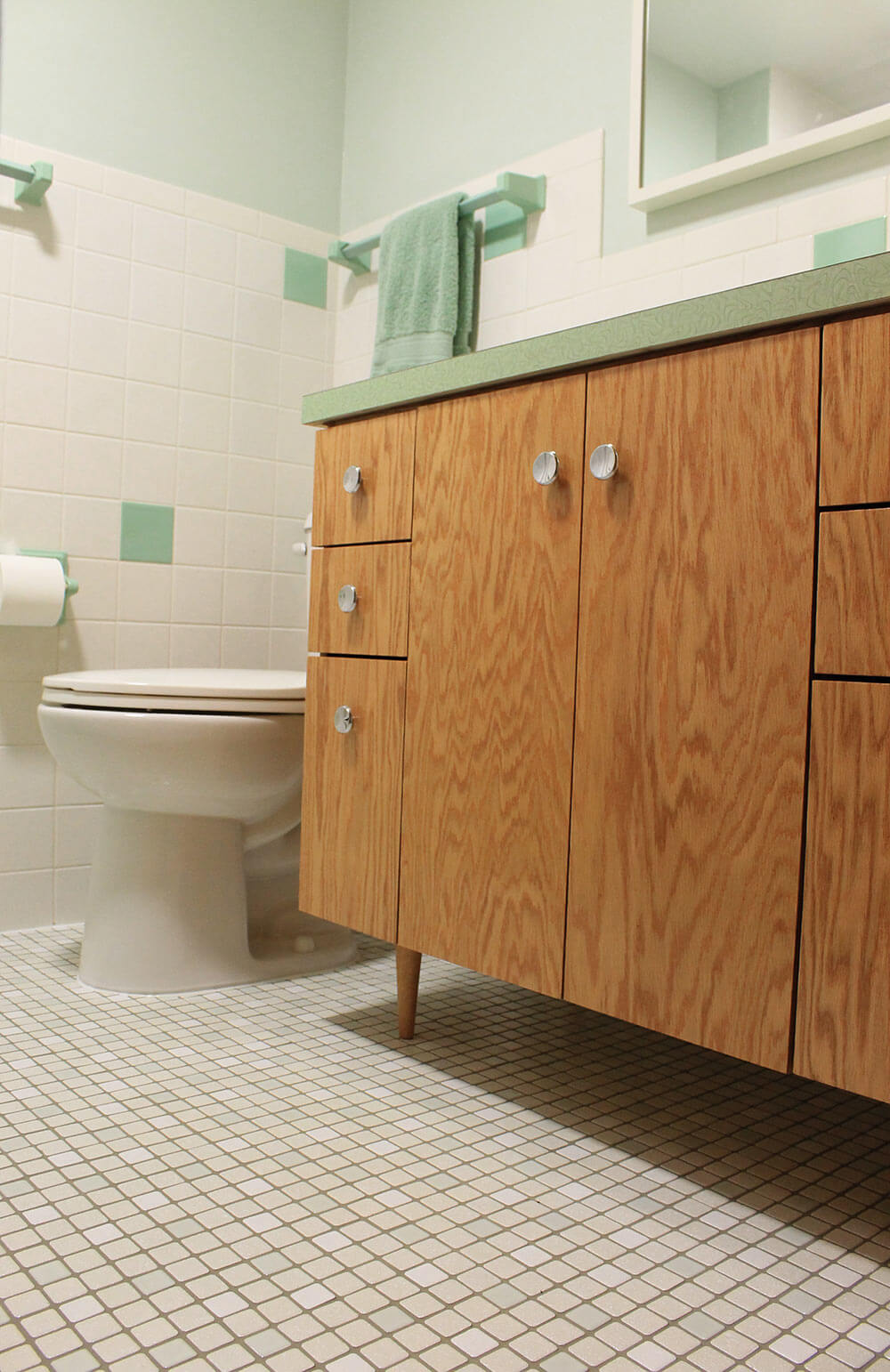 Kate S 1960s Green Bathroom Remodel Lite Before And