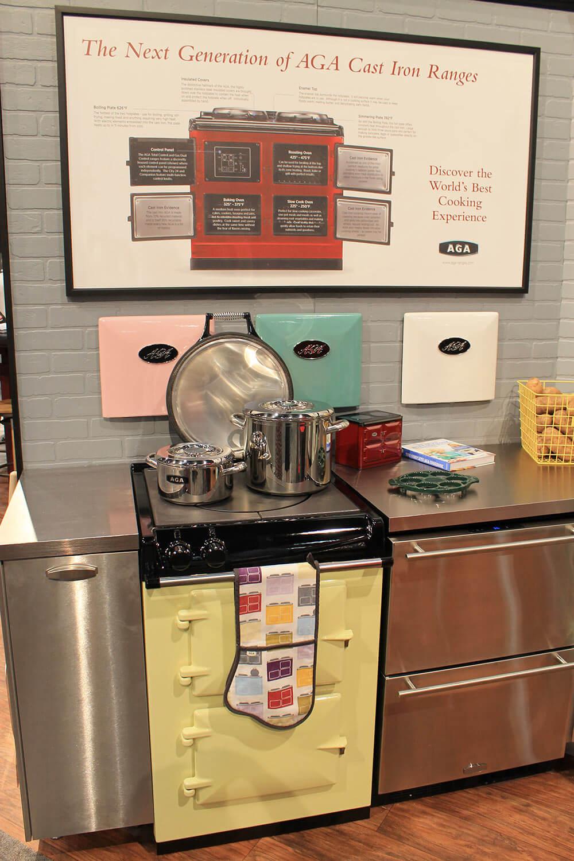 Retro Kitchen Small Appliances Aga Colorful Ranges And A Retro Kitchen At Kbis Retro Renovation
