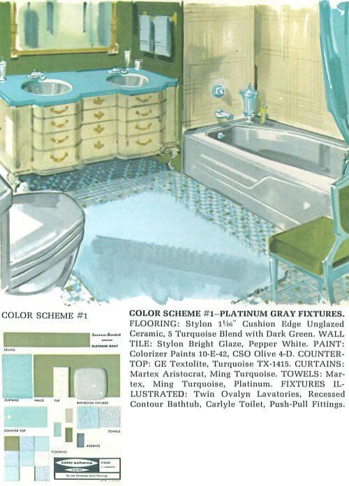 vintage gray bathroom