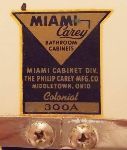 vintage Miami Carey bathroom mirror