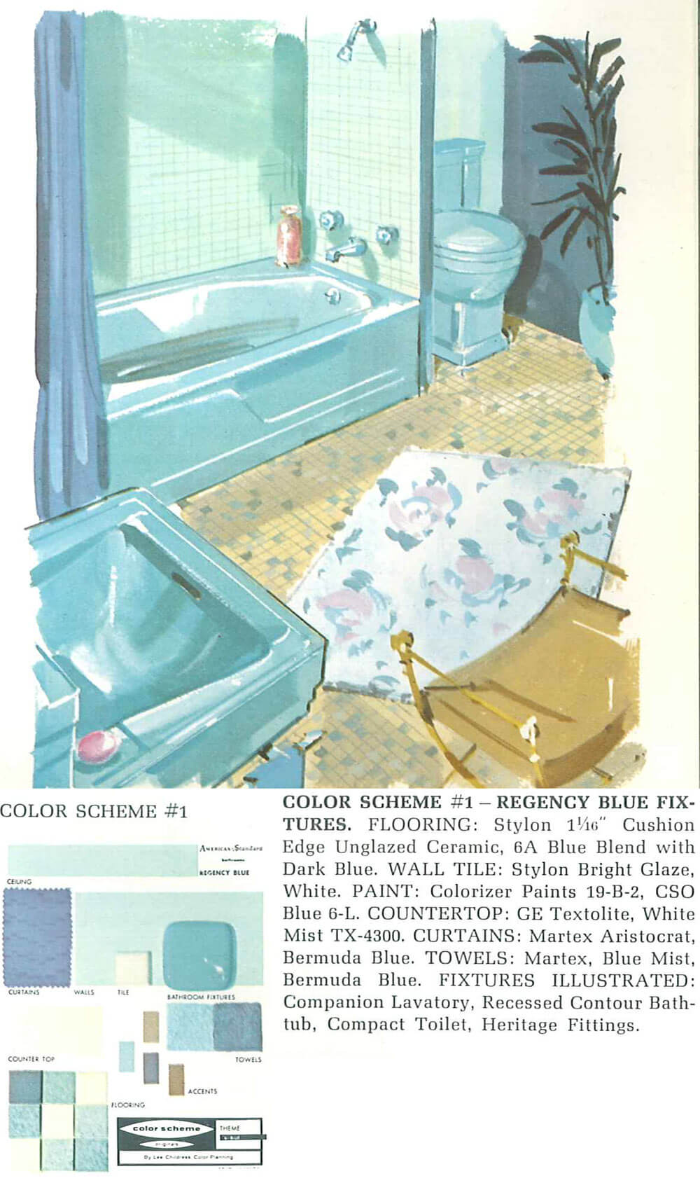 vintage blue bathroom colors from seven manufacturers from  to, Home decor