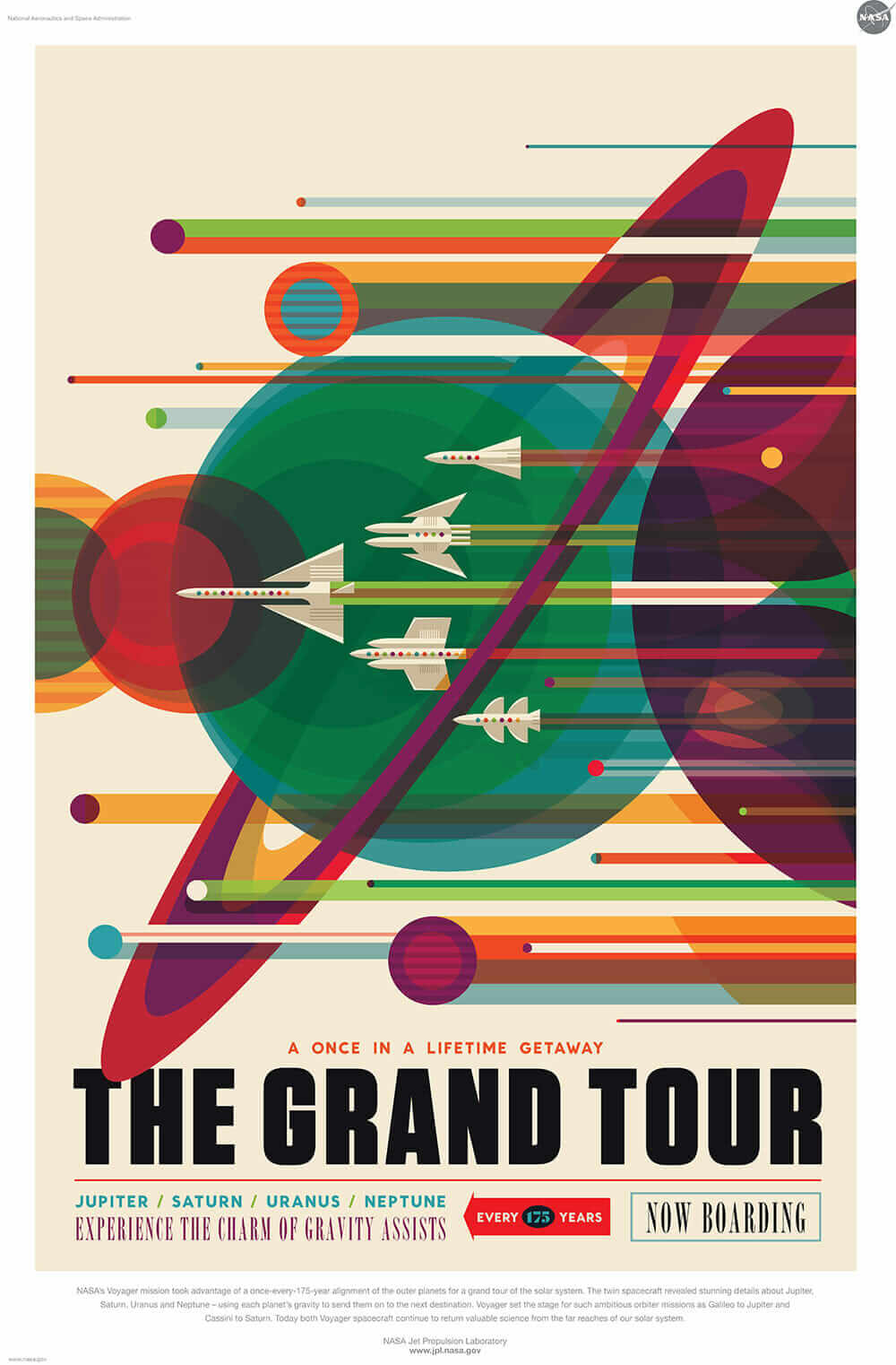 vintage style space poster
