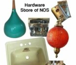 "Hardware store New Old Stock — ""100s of sinks, 100s of light fixtures"" — !"