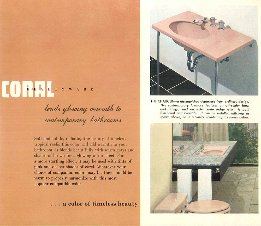 The Color Pink In Bathroom Sinks Tubs And Toilets From