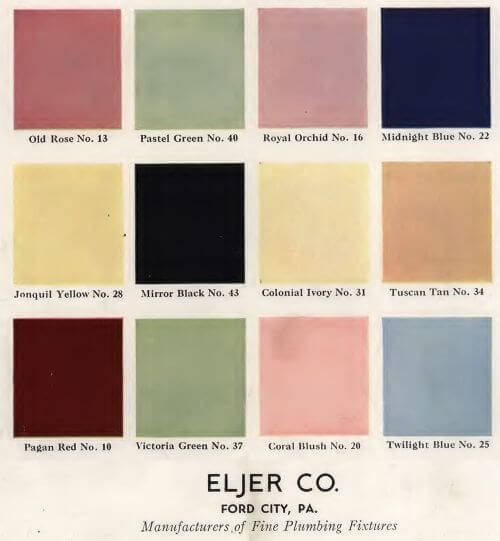 vintage bathroom colors