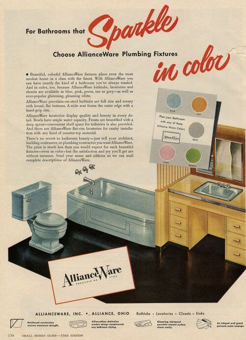 alliance ware vintage bathroom fixtures