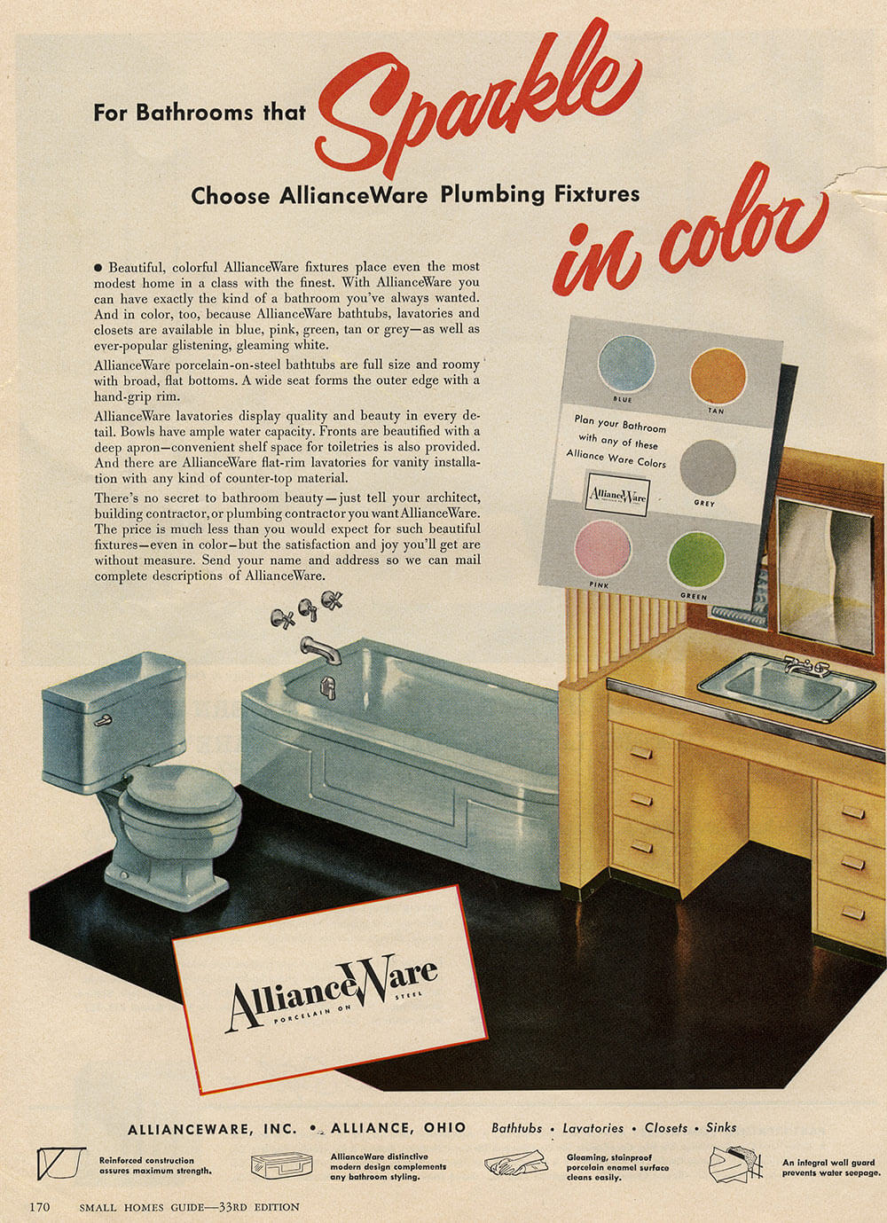 The Color Gray In Vintage Bathrooms From 1927 To 1962