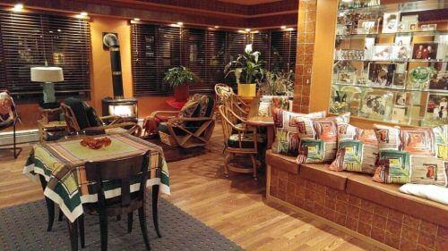 midcentury tiki lounge bar