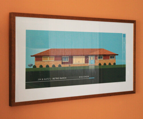 midcentury ranch house portrait