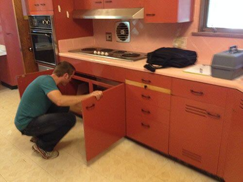 One ingenious couple + two sets of vintage St. Charles kitchen ...