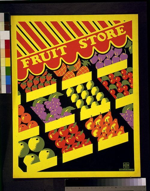 WPA-poster-fruit-store
