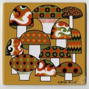 vintage georges-birard décorative tile