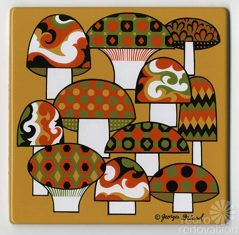 vintage georges-birard décorative tile