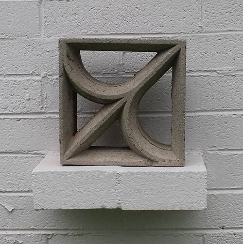decorative retro concrete block