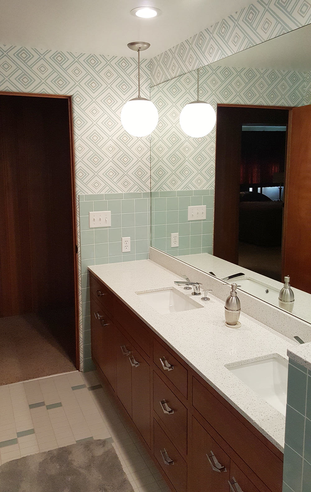 A New Blue Bathroom For A 1955 House That Looks Like It 39 S