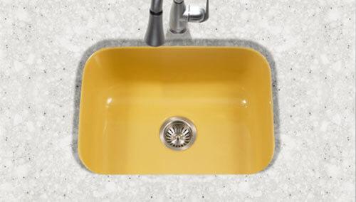 colorful undercount kitchen sinks - Enamel Kitchen Sink