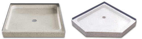 small shower receptor bathtubs terrazzo shower bases