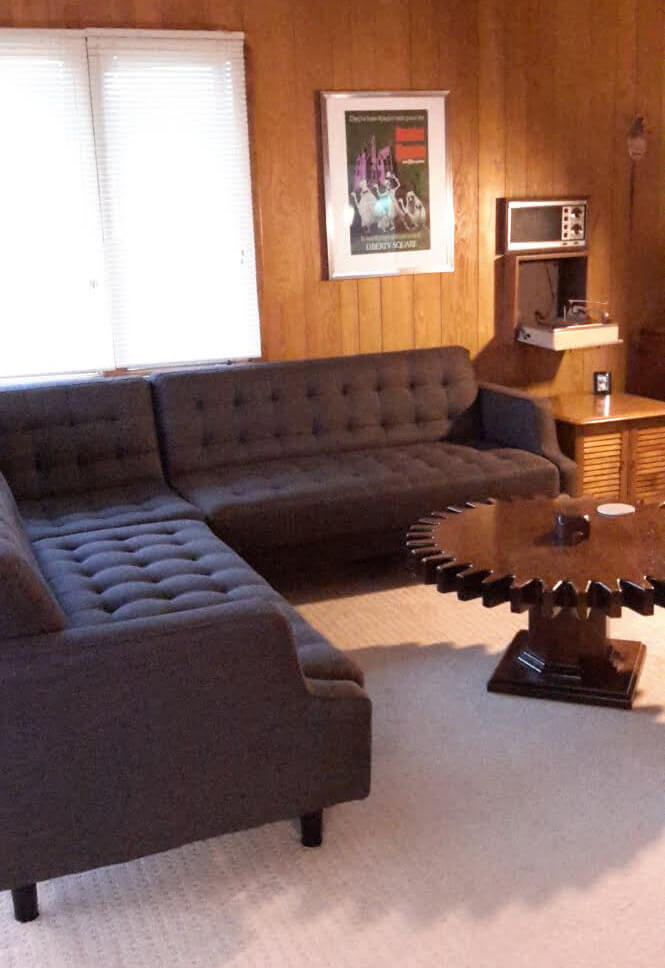 Stacy 39 S Great Deal On A Brand New Midcentury Modern Style Sectional Retro Renovation