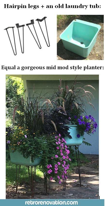 make a midcentury planter