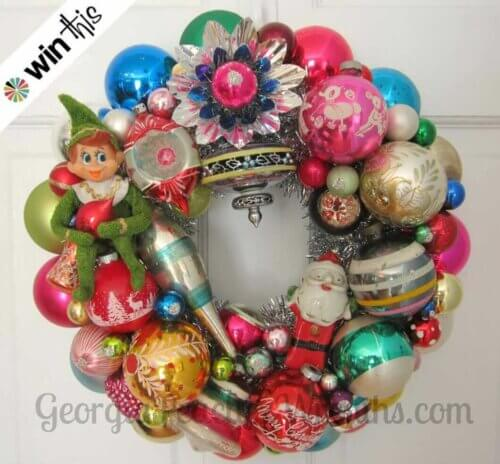 win-georgia-peachez-ornament-wreath
